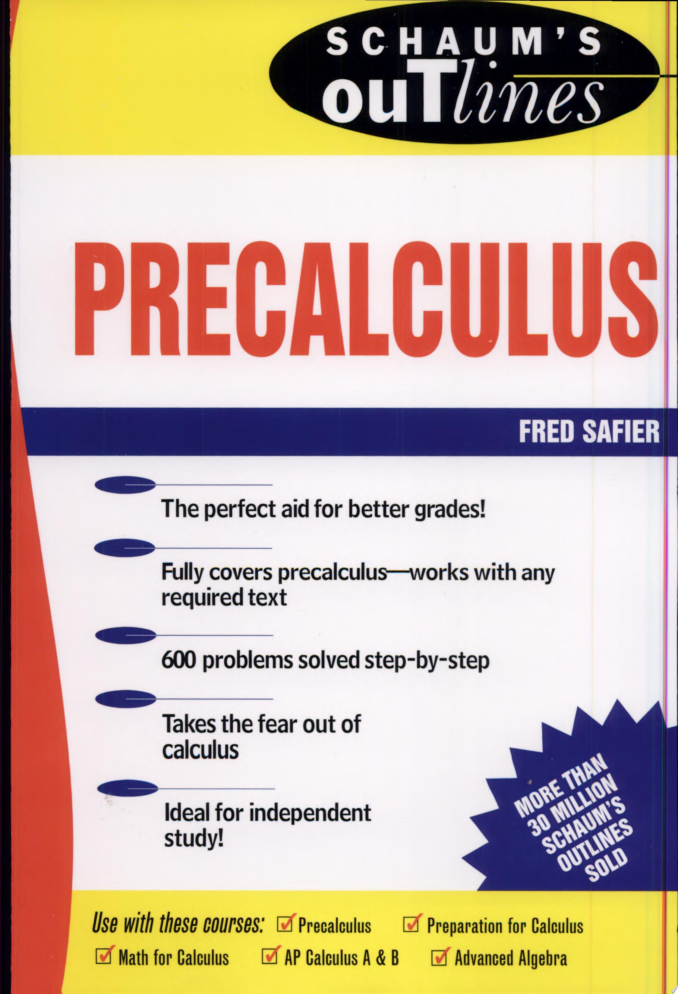 Schaum s Outline of Precalculus