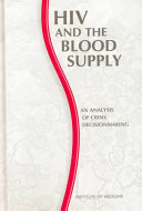 HIV and the Blood Supply ebook