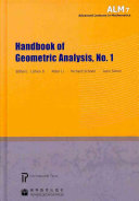 Handbook of Geometric Analysis Book