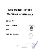 1982 World History Teaching Conference Book PDF