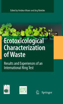 Ecotoxicological Characterization of Waste