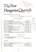 NHQ; the New Hungarian Quarterly