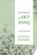 Listening to Art Song Book