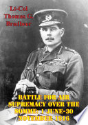 Battle For Air Supremacy Over The Somme  1 June 30 November 1916