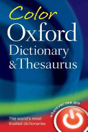 Colour Oxford Dictionary and Thesaurus