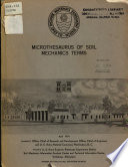 Microthesaurus of Soil Mechanics Terms Book