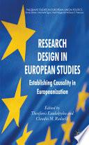 Research Design in European Studies Book