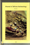 Journal of African Archaeology