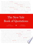 The New Yale Book of Quotations Book
