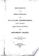 Proceedings of the Citizens of Charleston, on the Incendiary Machinations