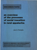 An Overview Of The Processes Of Social Transition In Rural Appalachia