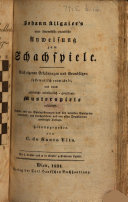 Neue theoretisch praktische Anweisung zum Schachspiele     Sechste     vermehrte neudurchgesehene und von allen Druckfehlerngereinigte Auflage  Herausgegeben von C  de Santo Vito