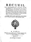 Recueil de differentes pieces pour l'établissement de deux seminaires fait dans le diocese de Reims, l'un à Reims, l'autre à Sedan