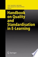 Handbook On Quality And Standardisation In E Learning Book PDF