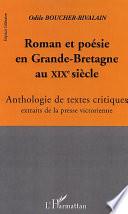 ROMAN ET POÉSIE EN GRANDE-BRETAGNE AU XIXè SIÈCLE