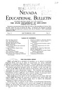 Nevada Educational Bulletin