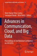 Advances in Communication  Cloud  and Big Data