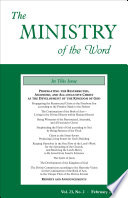 The Ministry Of The Word Vol 23 No 2