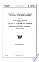 Committee on Homeland Security U S  House of Representatives  Adopted February 2005  109 1  Committee Print  Committee Print 109 A    Book
