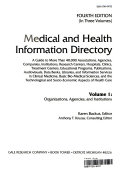 Medical and Health Information Directory  Organizations  agencies  and institutions Book