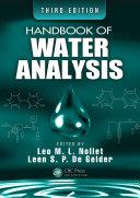 Handbook of Water Analysis, Third Edition