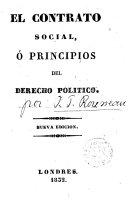El Contrato Social o principios de Derecho Político