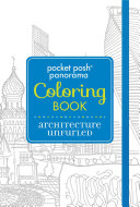 Pocket Posh Panorama Coloring Book  Architecture Unfurled Book