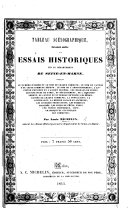 Tableau scénographique, faisant suite aux essais historiques sur le département de Seine-et-Marne, etc