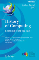 History of Computing  Learning from the Past