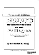 Rugg s Recommendations on the Colleges