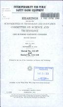Interoperability for Public Safety Radio Equipment
