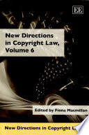 New Directions In Copyright Law