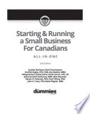 Starting and Running a Small Business For Canadians For Dummies All in One