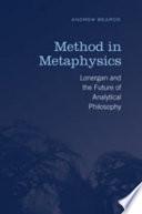 Method in Metaphysics