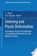 Sintering and Plastic Deformation Book