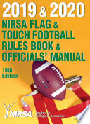 2019 and 2020 NIRSA Flag and Touch Football Rules Book and Officials' Manual