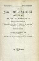 New York Supplement