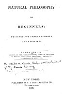 Natural Philosophy for Beginners