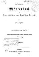 Vollständiges Wörterbuch der Französischen und Deutschen Sprache