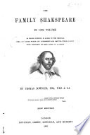The Family Shakespeare     Book