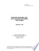 Electricity Generation and Environmental Externalities  Case Studies Book