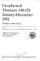 Contributions to Geochemistry  1949