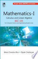 Mathematics I Calculus And Linear Algebra Bsc 105 For Computer Science Engineering Students Only  Book PDF