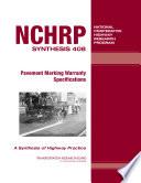Pavement Marking Warranty Specifications