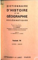 Dictionnaire d'histoire et de géographie ecclésiastiques