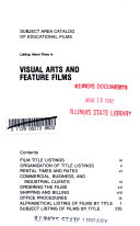 Subject Area Catalog of Educational Films Listing 16 Mm Films in Visual Arts and Feature Films Book PDF
