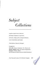 Subject Collections