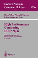 High Performance Computing   HiPC 2000