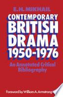 Contemporary British Drama 1950 1976
