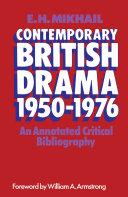 Contemporary British Drama 1950–1976 [Pdf/ePub] eBook